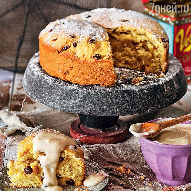 Шафрановый кекс с изюмом