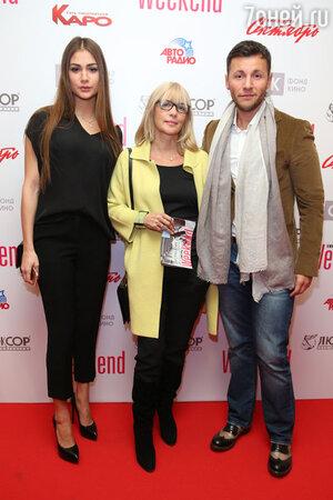 Вера Глаголева с дочерью Анастасией Шубской и  Вячеслав Манучаров
