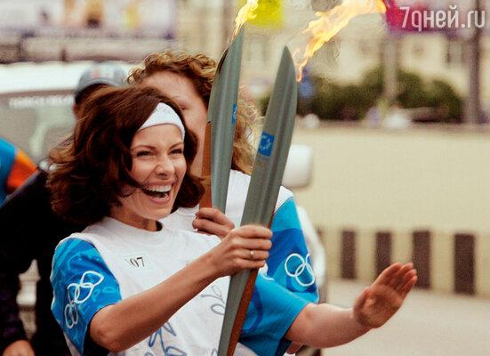 Московский этап Всемирной эстафеты олимпийского огня, июль 2004 года