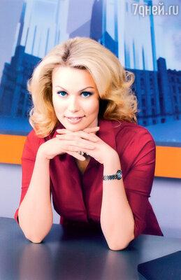 Екатерина во время эфира программы «Вести-Москва» на канале «Россия»