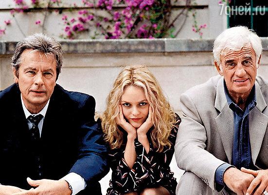 Ванесса всегда была очень востребованной актрисой. С Аленом Делоном и Жан Полем Бельмондо.  Кадр из фильма «Один шанс на двоих», 1998 г.