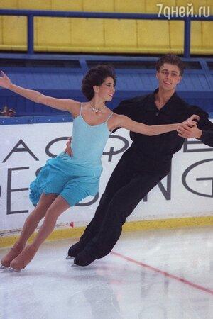 Петр Чернышев и Наоми Ланг. 1998 г.