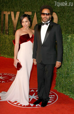 Зои с отцом ЛенниКравитцем. Церемония вручения премии «Оскар». Лос?Анджелес, 2010 г.