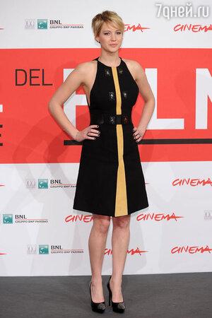 Дженнифер Лоуренс (Jennifer Lawrence) на фотоколле фильма «Голодные игры» в Риме