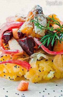 Закуска из картошечки с копченой рыбой