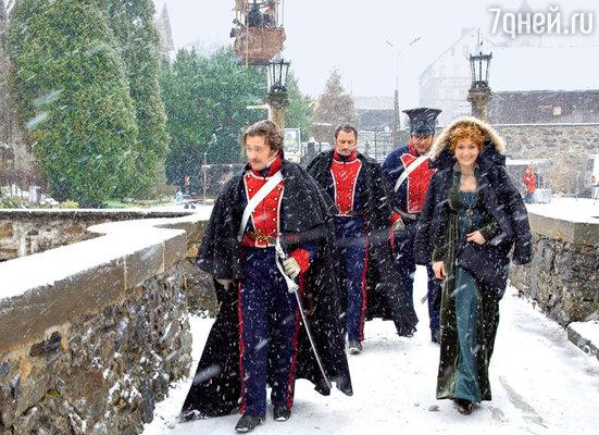 Русских актеров в Польше встретила по-настоящему русская зима