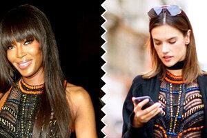 Битва нарядов: Наоми Кэмпбелл и Алессандра Амбросио в Atelier Versace