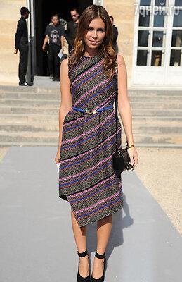 На показе летней коллекции Кристиана Диора. Парижская Неделя моды 2011 год