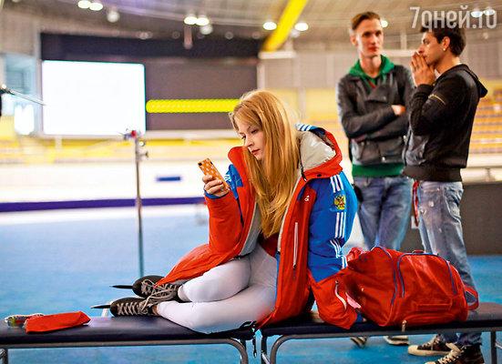 Светлана Ходченкова на съемках фильма «Чемпионы»