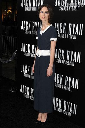 Кира Найтли  на премьере  картины «Джек Райан: Теория хаоса» в Лос-Анжелесе