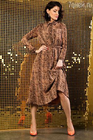Анастасия Макеева в платье Monoroom и туфлях Steve Madden