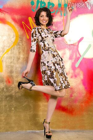 Анастасия Макеева в платье Kolesman