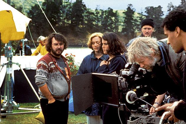 Питер Джексон на съемках фильма «Небесные создания»