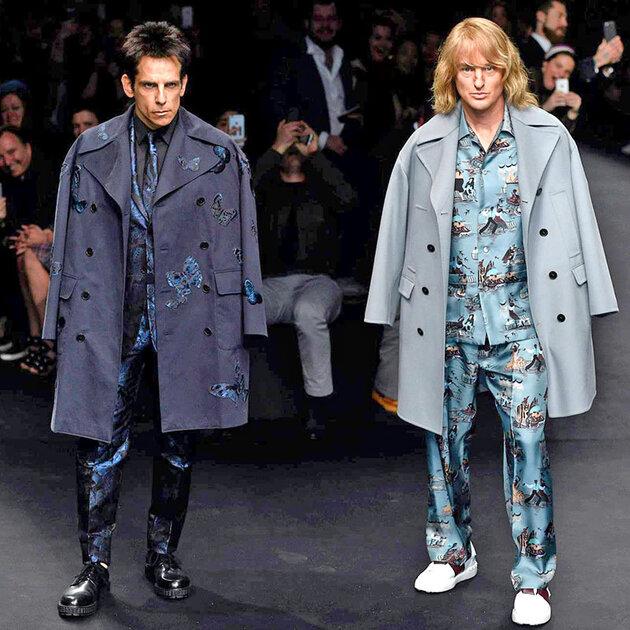 Бен Стиллер и Оуэн Уилсон прошлись по подиуму в Париже