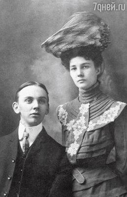 Эдгар Кейси с женой Гертрудой. В свое время именно Эдгар вылечил свою супругу от туберкулеза, хотя все врачи прочили ей близкую смерть