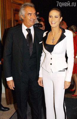 С Флавио Бриаторе, отцом ее старшей дочери Лени, Хайди рассталась еще будучи беременной