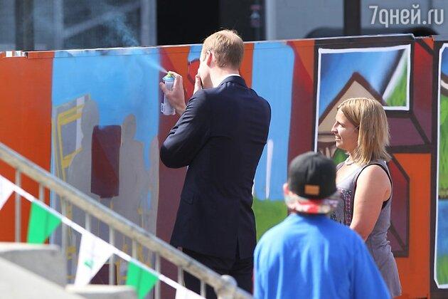 Принц Уильям граффити