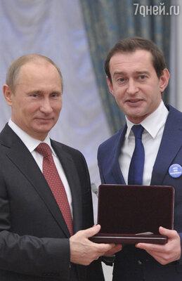 Владимир Путин и Константин Хабенский