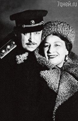 «Мама с папой познакомились на фронте. Они стали очень красивой и любящей парой». Лидия Русланова с мужем Владимиром Крюковым. 40-е годы