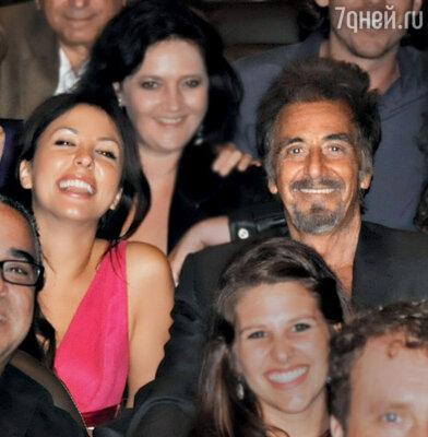 Аль Пачино со своими юными «сокурсниками» (Мария Гузеева слева)