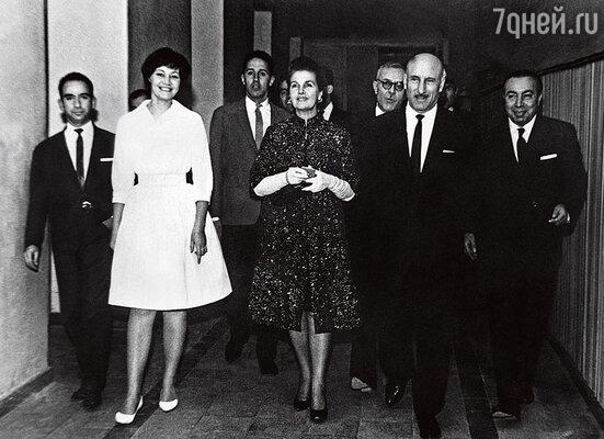 С Сергеем Герасимовым и Тамарой Макаровой на Неделе советских фильмов в Иране. 1963 г.