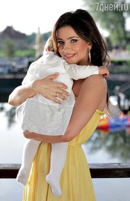 С дочерью Софией
