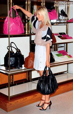 Мария Шарапова обладает одной из самых внушительных коллекций сумок