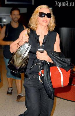 Мадонна ваэропорту Нью-Йорка