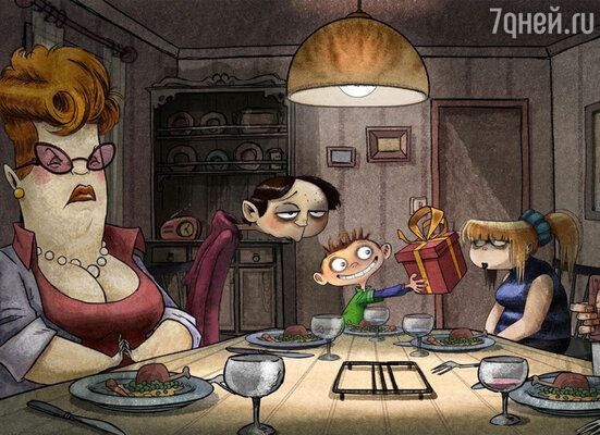 Кадр из мультфильма «Магазинчик самоубийств 3D»