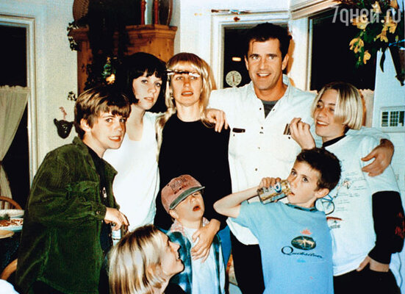 Мэл в кругу семьи. 1998 г.