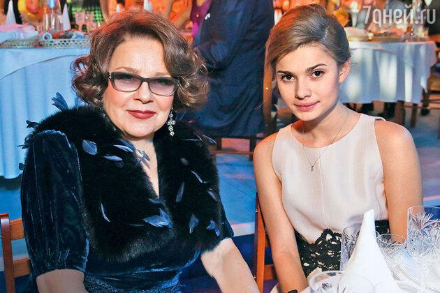 Лариса Голубкина с внучкой Настей