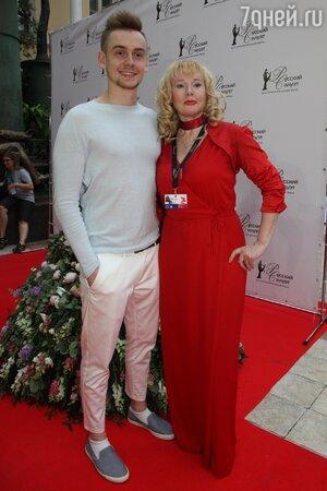 Елена Кондулайнен с сыном Михаилом