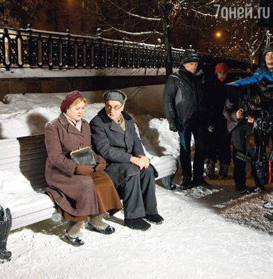 Анна Михалкова и Сергей Маковецкий на съемках фильма «Жизнь и судьба»