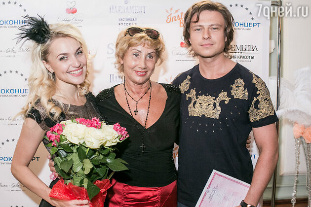 Анна Городжая и Прохор Шаляпин с женой Ларисой Копенкиной
