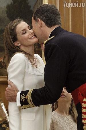 Король Испании Филипп VI и Летиция Ортис