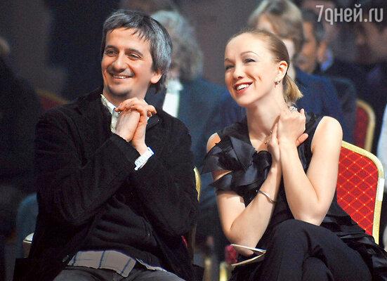 С мужем, режиссером Константином Богомоловым