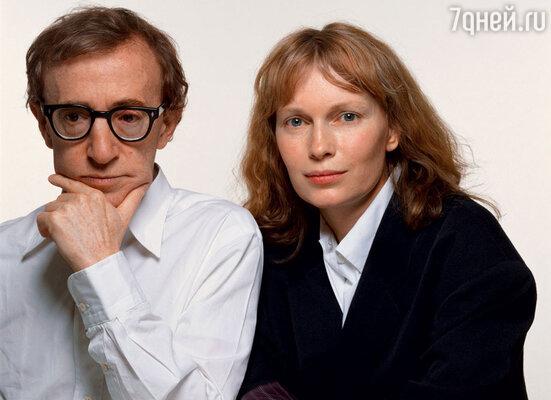 Вуди Аллен с бывшей гражданской женой — актрисой Мией Фэрроу