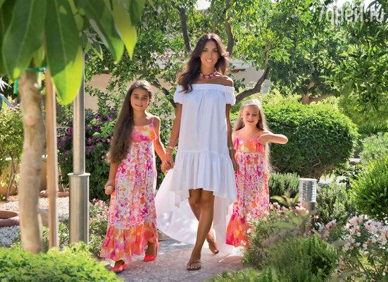 С дочками Сафиной и Микеллой