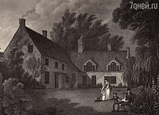 Дом приходского священника в Бернем-Торпе, где родился Нельсон. Иллюстрация из книги Роберта Саути «Жизнь Нельсона», 1813 г.