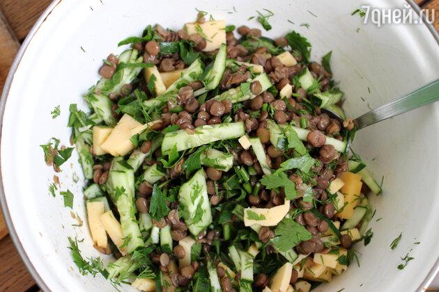 Чечевица с зеленью: рецепт для здорового ужина