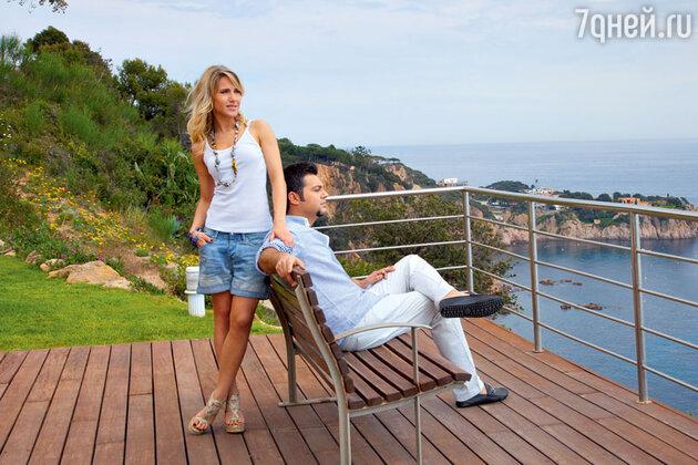 Юлия Ковальчук с Алексеем Чумаковым в Испании