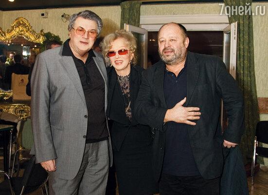 Людмила Гурченко с партнерами по фильму Александром Ширвиндтом и Владимиром Ильиным