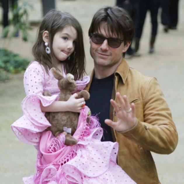 Том Круз с дочерью Сури. 2013 год