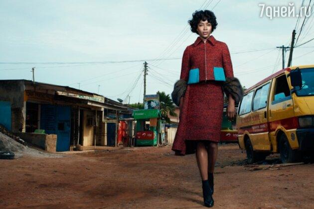 Наоми Кэмпбелл в образе Мишель Обамы для W Magazine 2013