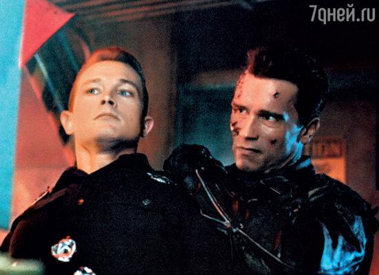Роберт Патрик и Арнольд Шварценеггер вфильме «Терминатор 2. Судный день»