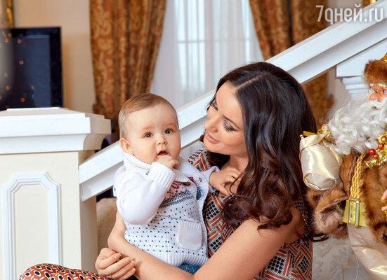 Оксана с сыном Федей
