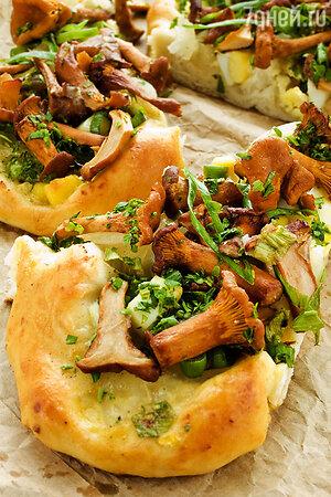 Пирог с телятиной, картофелем и лисичками