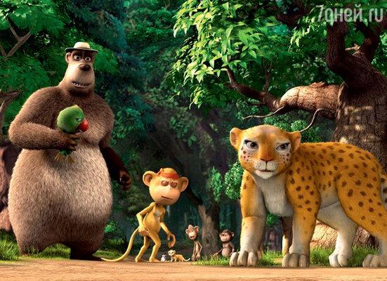 Кадр из фильма «Братва из джунглей 3D»