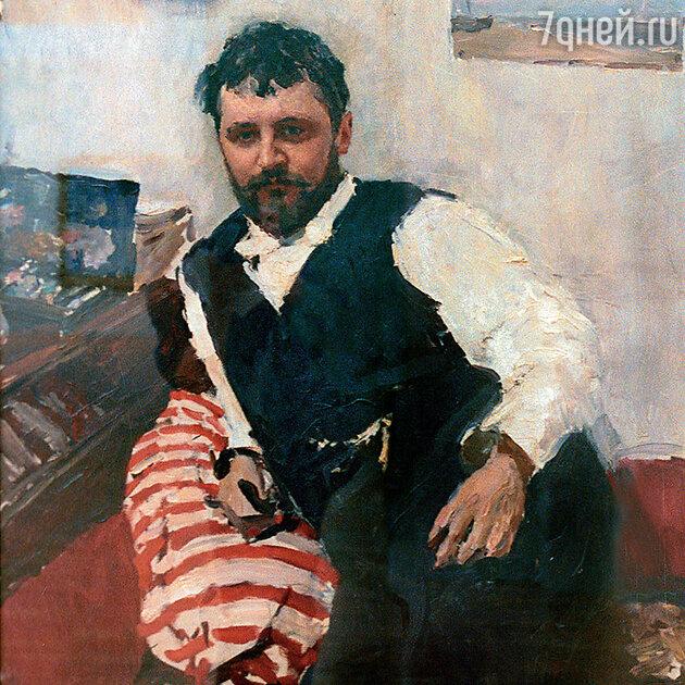 Фото репродукции портрета художника Константина Коровина работы В. Серова, 1891 г. на выставке «Пути Русского импрессионизма» в Государственной Третьяковской галерее