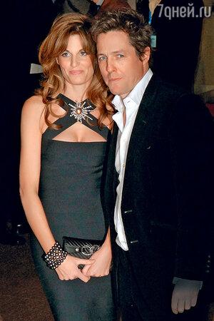 С английской аристократкой Джемаймой Хан, близкой подругой принцессы Дианы, Грант встречался три года. 2007 г.